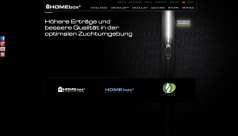 Homebox Screenshot der Webseite
