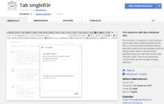 Tab Singlefi3r - Browser-Extensions programmieren
